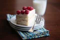 Slice of summer cake Stock Images