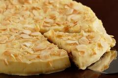 Almond cake. Slice of Swedish almond cake Royalty Free Stock Images