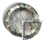 Slice Of Swedish Kronor Money Pie Stock Photos