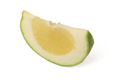 Slice of sweet green Pomelo (grapefruit) Stock Photography