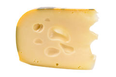 Slice of Swiss Cheese Royalty Free Stock Photos