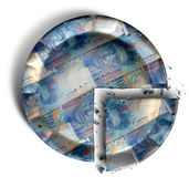 Slice Of Swiss Franc Money Pie Royalty Free Stock Photography