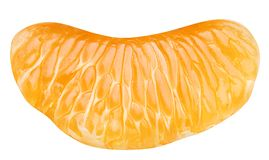 Slice of tangerine. Royalty Free Stock Photography