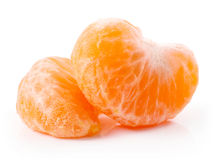 Slice of tangerine Stock Photos