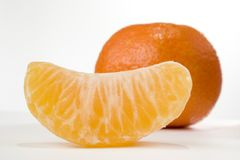 Slice of tangerine Royalty Free Stock Images