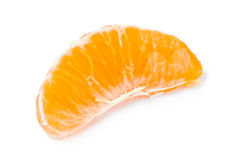 Slice of tangerine or mandarin fruit Stock Image