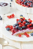Slice of tart cake Royalty Free Stock Photos
