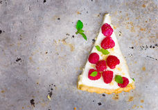 Slice of a tart with fresh berries. Royalty Free Stock Photo
