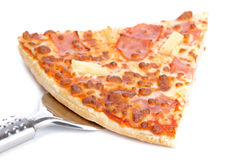 Slice of tasty Italian pizza Royalty Free Stock Photography