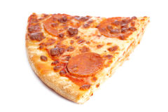 Slice of tasty Italian pizza Royalty Free Stock Image