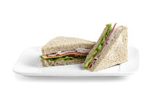Slice of tasty sandwich Stock Photo
