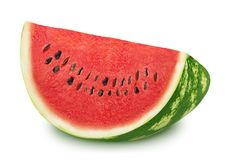 Slice of tasty watermelon on a white background. Stock Image