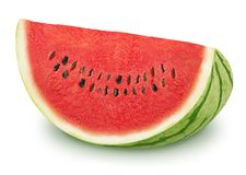 Slice of tasty watermelon on a white background. Stock Photography