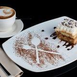 Slice of tiramisu cake Royalty Free Stock Image