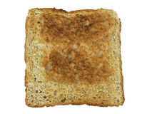 A slice of toast. Against a white background for easy extraction Royalty Free Stock Image