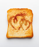 Slice of toast Royalty Free Stock Photography