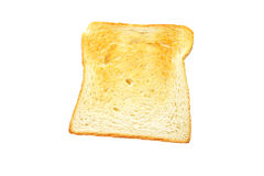 Slice of toast bread Stock Images