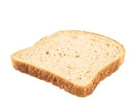 Slice of the toast bread. Isolated over the white background, side view Stock Photo