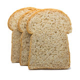 Slice of the toast bread isolated on white background Stock Photos