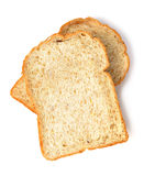 Slice of the toast bread isolated on white background Stock Photography