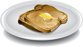 Slice of Toast Royalty Free Stock Images