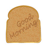 Slice of toast morning Stock Image