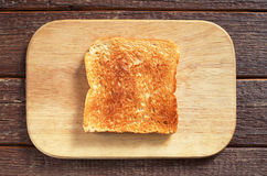 Slice of toasted bread Royalty Free Stock Photos