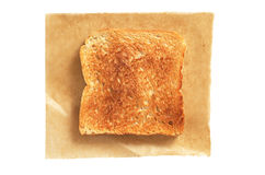 Slice of toasted bread Stock Photo