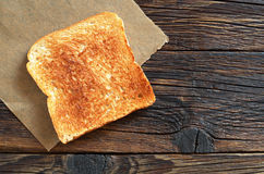 Slice of toasted bread Royalty Free Stock Photo