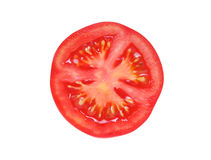 Slice of tomato. Isolated on white Stock Images