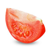 Slice tomato isolated with clipping path Stock Images