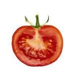 Slice of tomato. Isolated on white Royalty Free Stock Photography