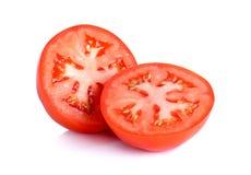 Slice tomato isolated on the white background Stock Image