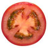 Slice of tomato isolated on white Stock Images