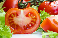 Slice tomatoes Stock Photo