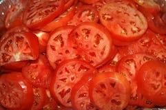 Slice Tomatoes stock image