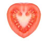 Slice tomatoes. Isolated on white background Stock Image