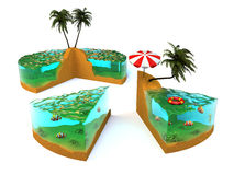 Slice of tropical island Stock Image