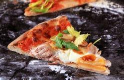 Slice of tuna pizza royalty free stock photos