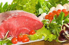 Slice of veal leg Royalty Free Stock Image