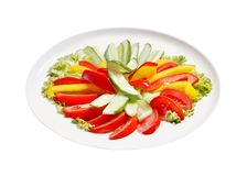Slice of vegetable Royalty Free Stock Images