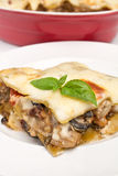 Slice of Vegetarian Lasagna Royalty Free Stock Photo