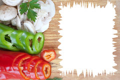 Slice veggies Stock Images