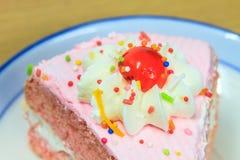 Slice of Victoria sponge cake Royalty Free Stock Photography