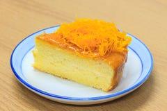 Slice of Victoria sponge cake Stock Image