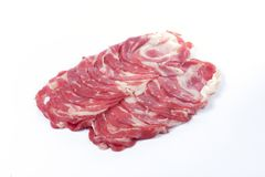 Slice of Wagyu beef Royalty Free Stock Image