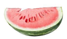 Slice of water melon on a white background Royalty Free Stock Photos