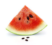 Slice of water-melon on a white background Royalty Free Stock Photography
