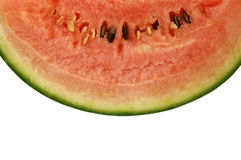 Slice of watermelon. Closeup of watermelon slice isolated on a white background Stock Image