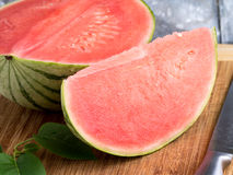 Slice of Watermelon. A sweet, juicy, slice of watermelon fruit royalty free stock photos